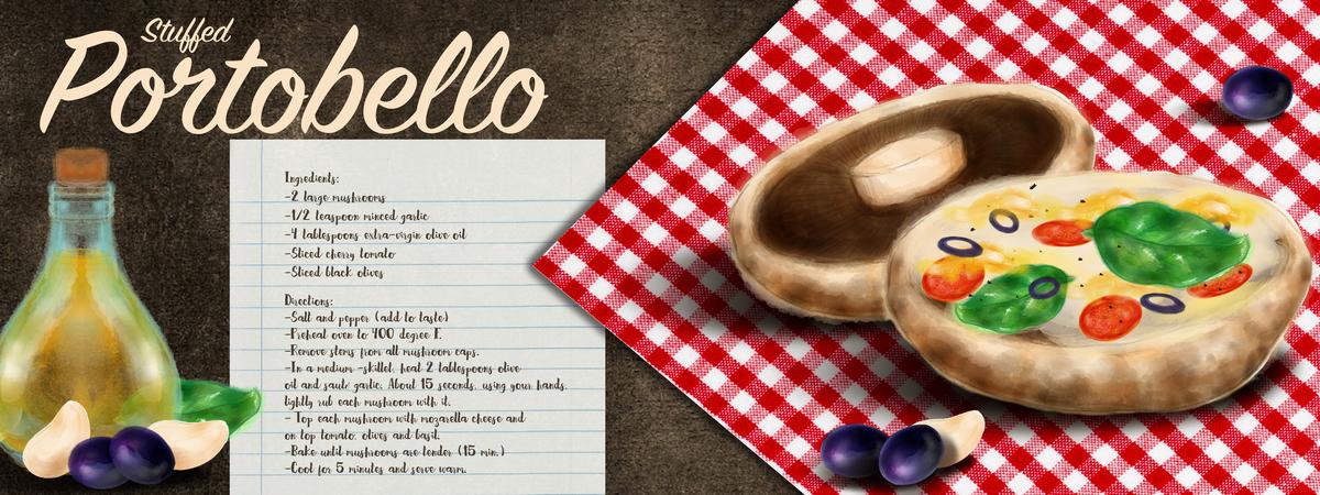 Lh stuffed portobello