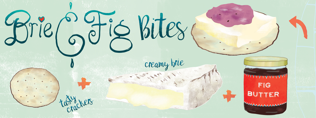 Ckeller brie fig appetizer