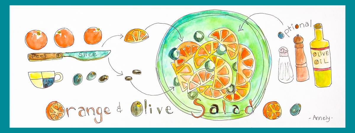 Orange and olive