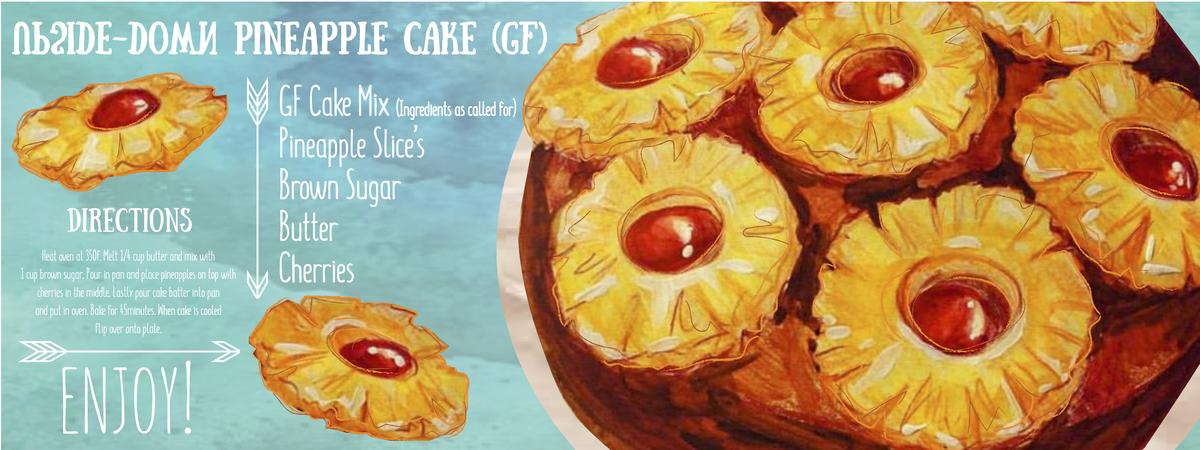 Upside down pineapple cake gf