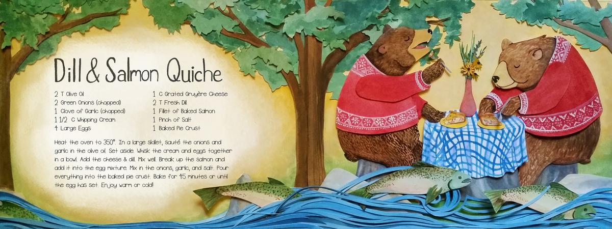 Elizabeth goss bear salmon quiche