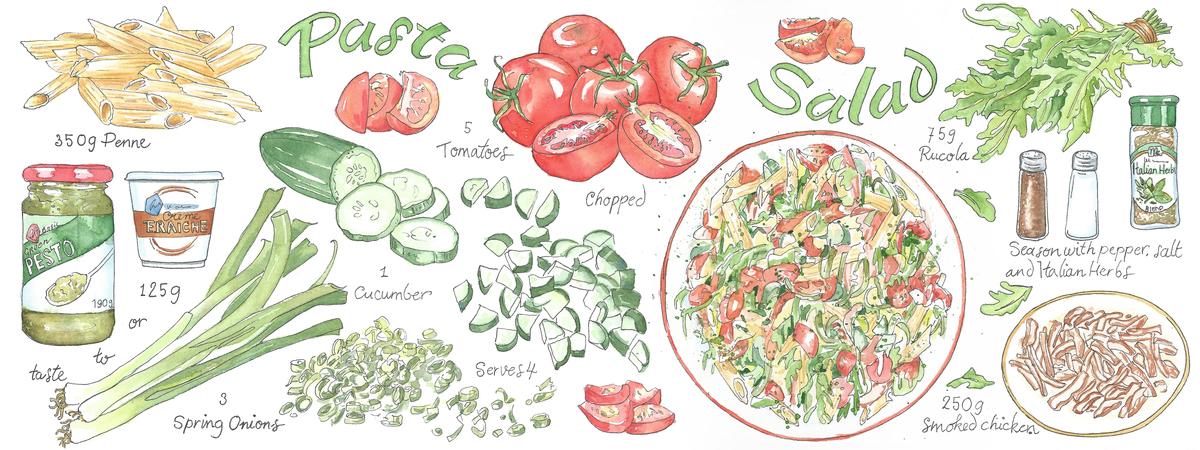 Pasta salad suzanne de nies