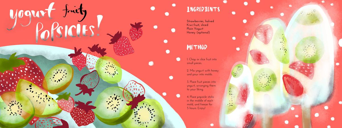 Yogurt fruit popsicles 01