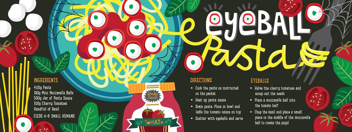 Lisakirkbride eyeball pasta recipe