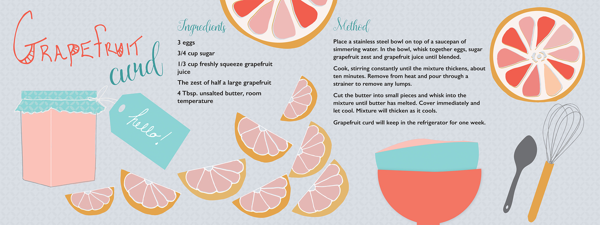 Food illustration grapefruit 01