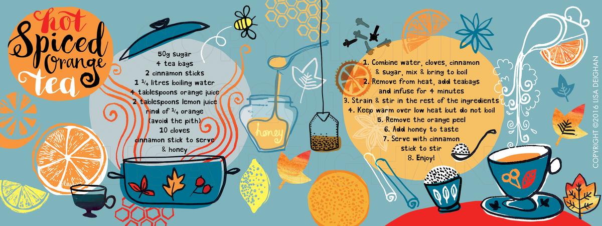 Lisa deighan spiced orange tea