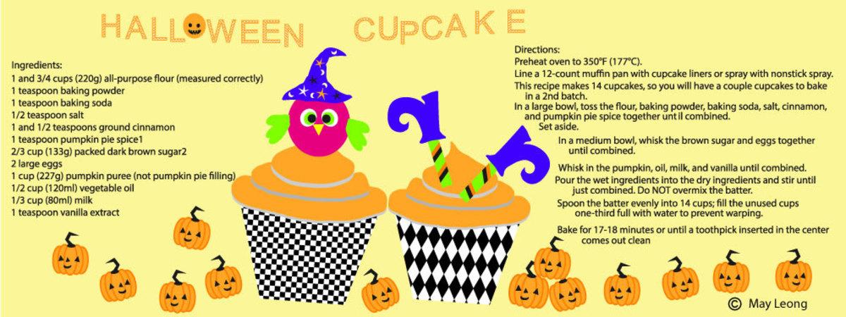 Halloween cupcake facebook