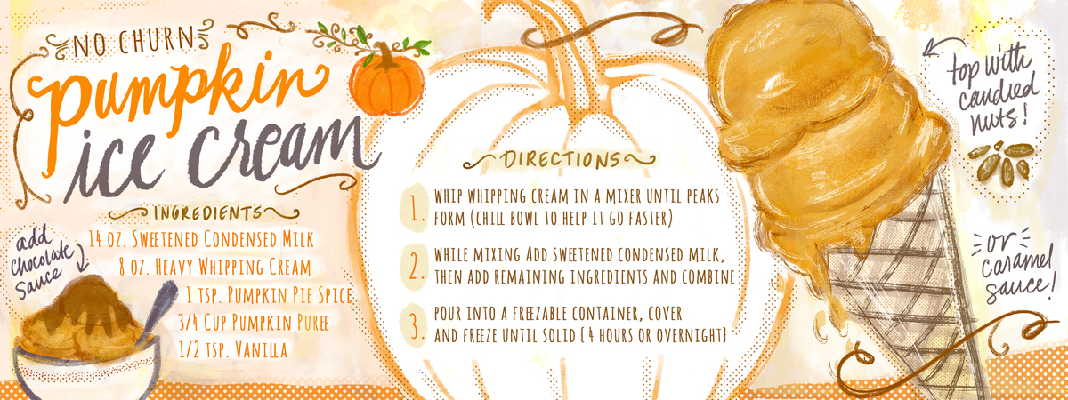 Pumpkin icecream recipe