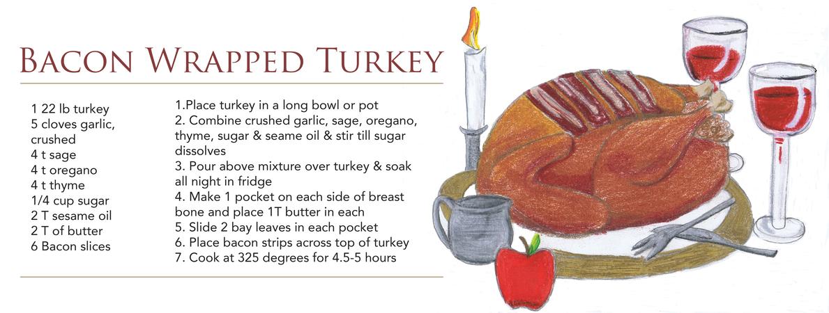 colin kay bacon wrapped turkey