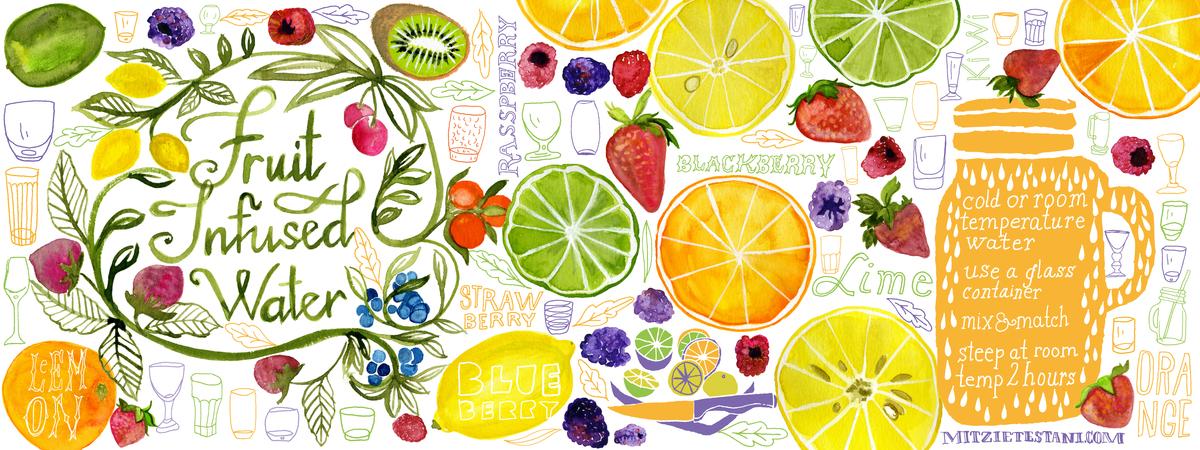 Fruitinfusedwater mitzietestani