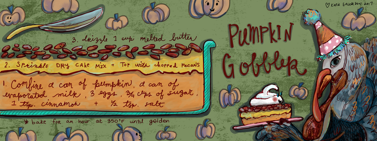 Artist katie erickson art spreads joy pumpkin crunch recipe