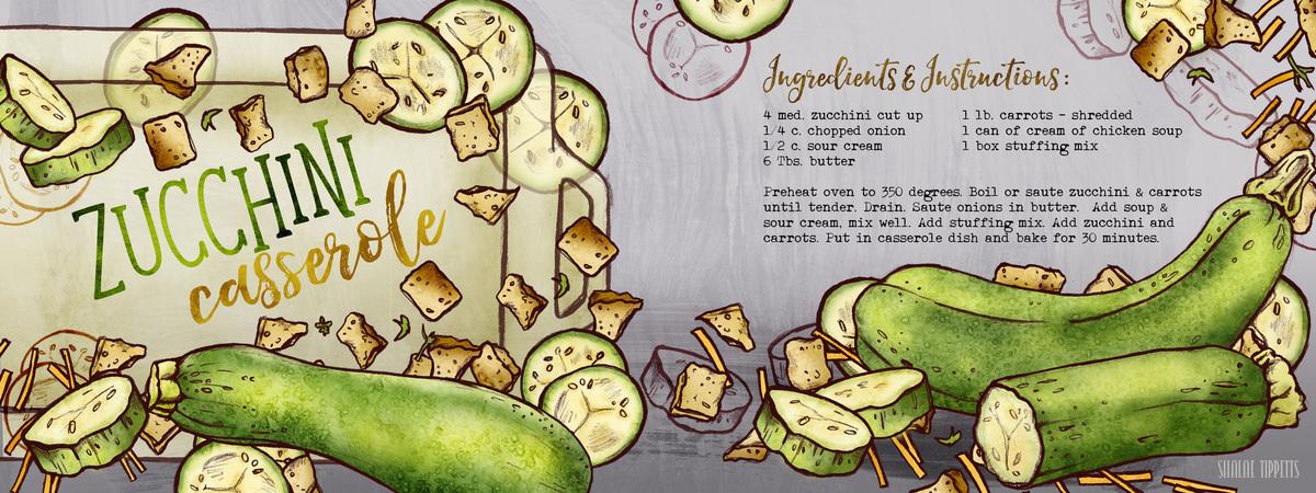Zucchini casserole recipe