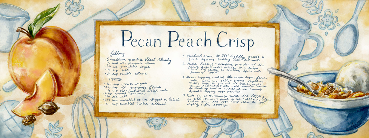 Peach recipe digital