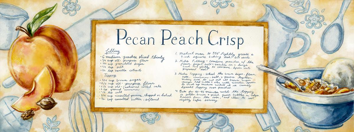 Peach recipe digital