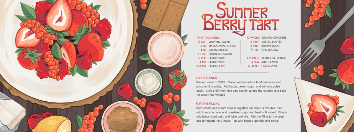Berry tart illustration final