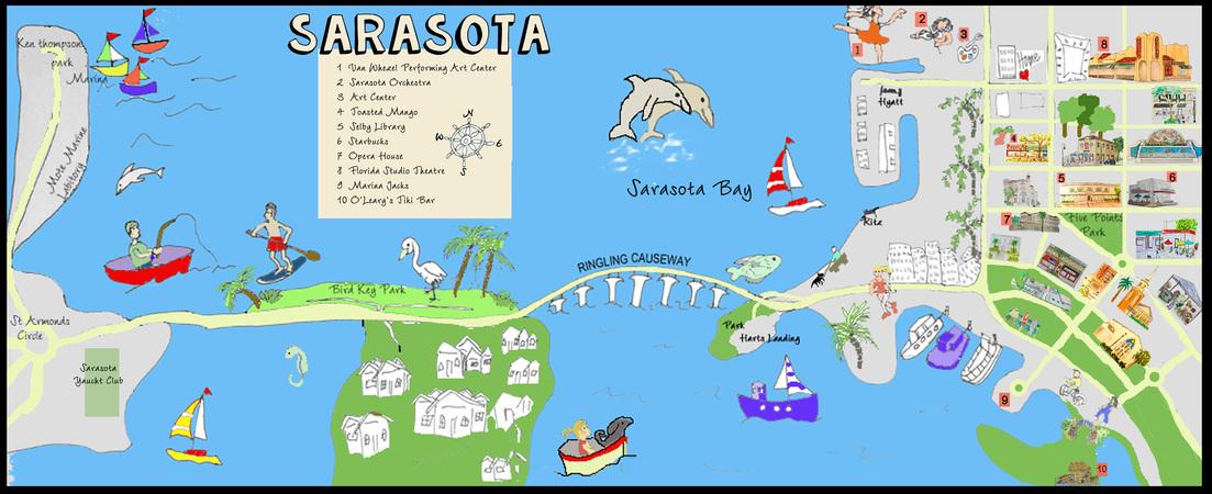 Sarasota map