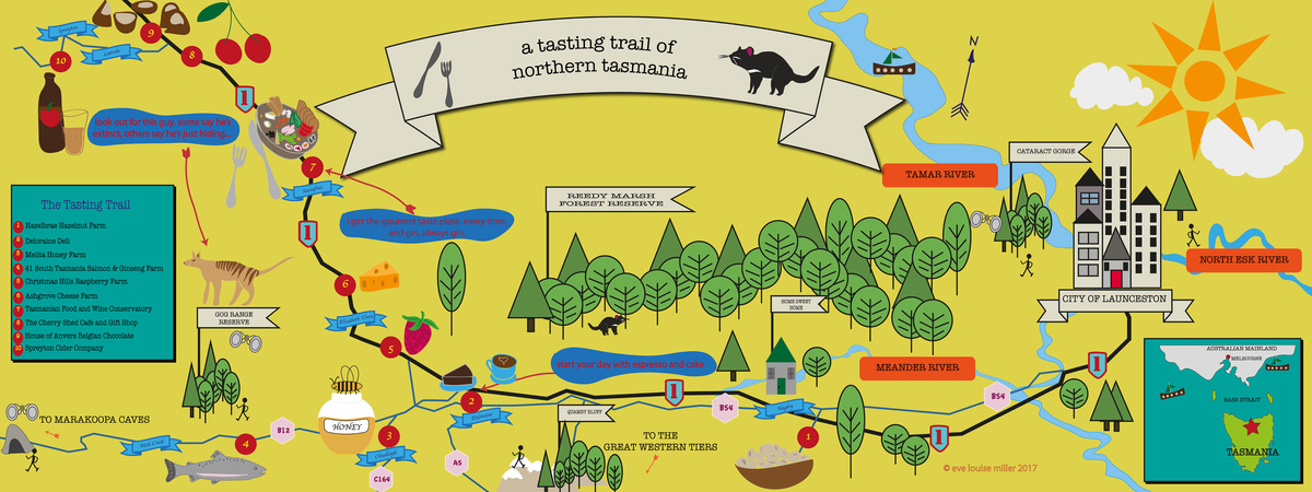 Make a map tasting trail copy