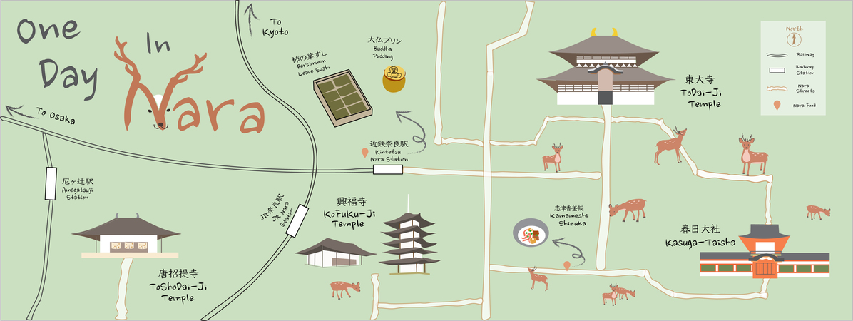 One Day In Nara Japan By Stlashi They Draw Travel - Japan map nara