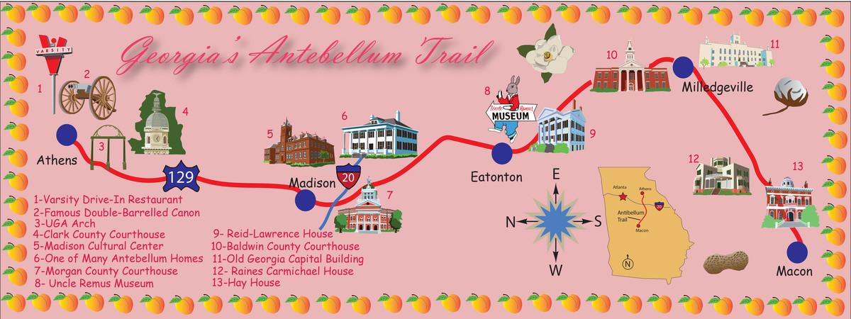 The antibellum trail map