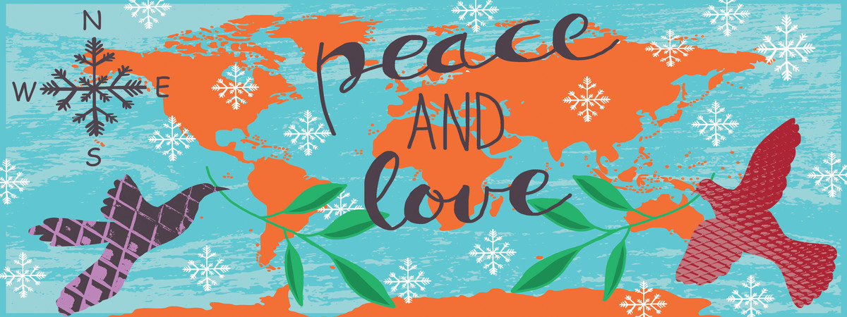 Map peace and love all over the world