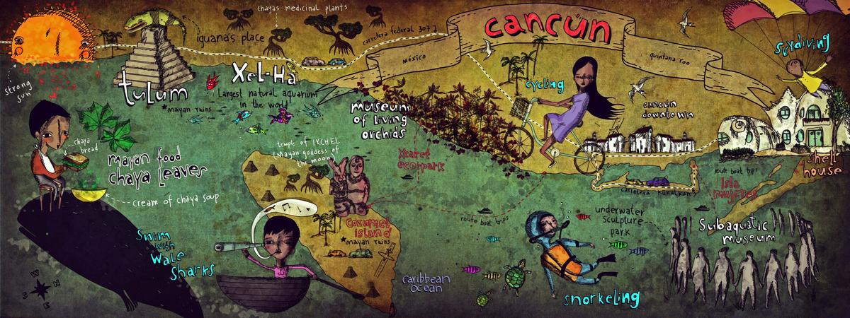 Map contest  cancun mx.