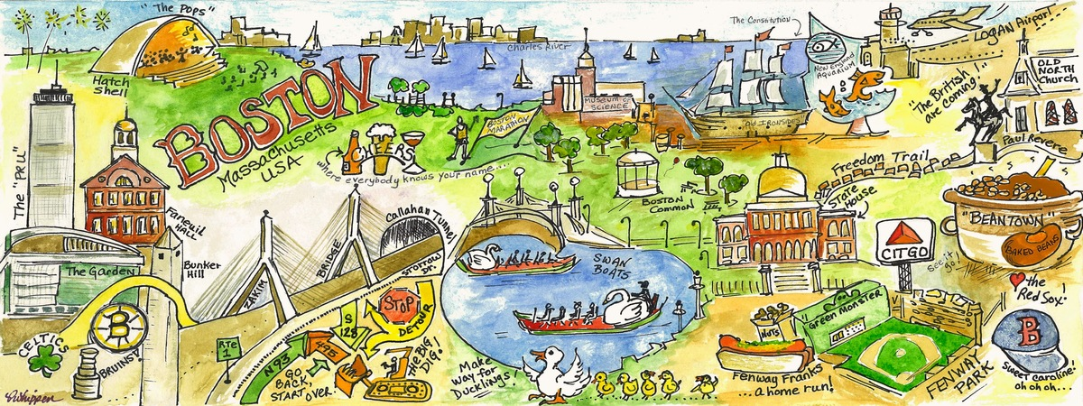 Boston illustration
