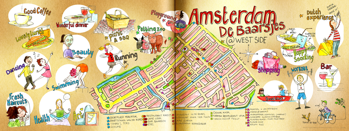 Amsterdam West Side by Koosje Koene They Draw and Travel – Amsterdam Travel Map