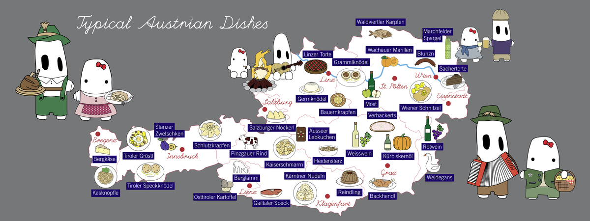 Typical austrian dishes by mo and mei they draw travel for Austrian cuisine vienna
