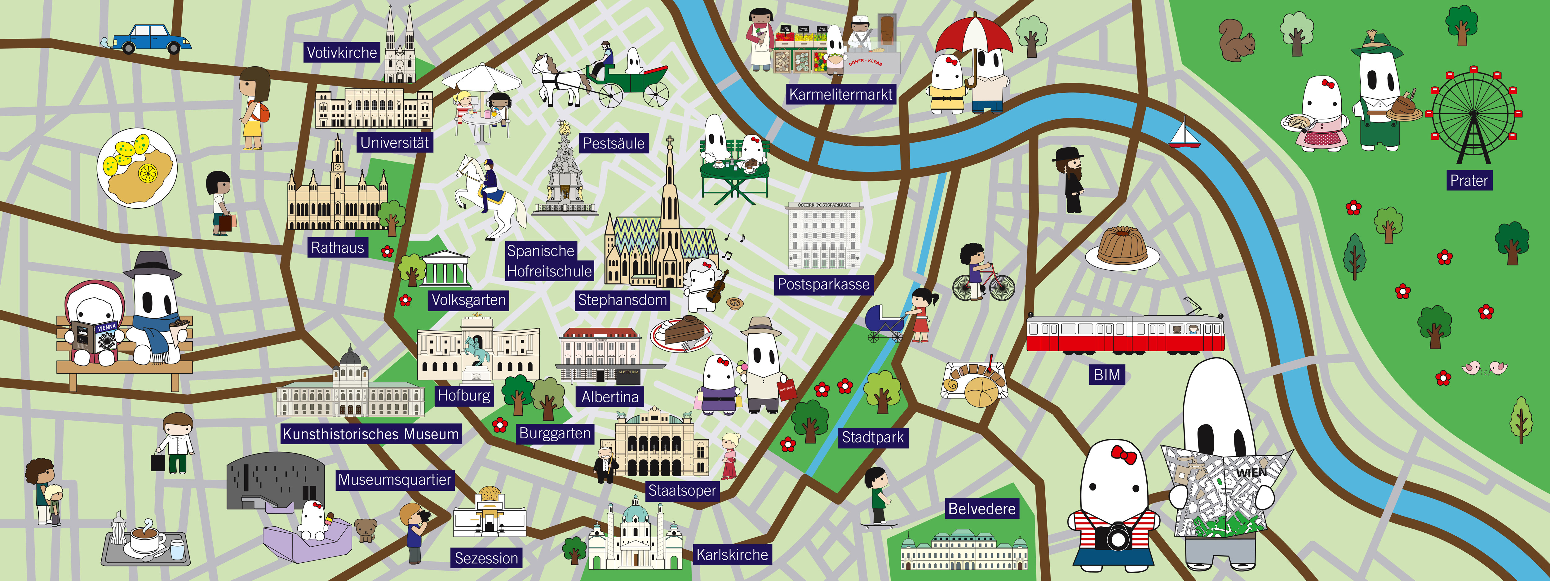 They Draw and Travel – Vienna Travel Map