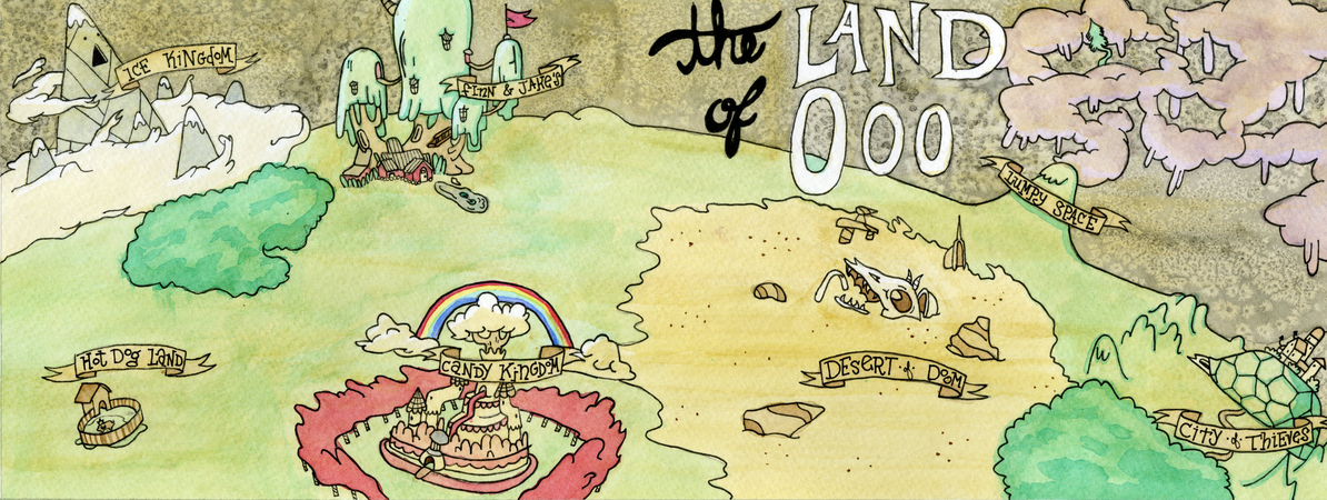 The Land Of Ooo By Michael Kroptavich They Draw Amp Travel