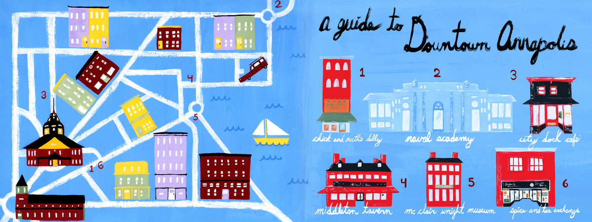 Downtown Annapolis Maryland By Ace Price They Draw Travel - Anápolis map