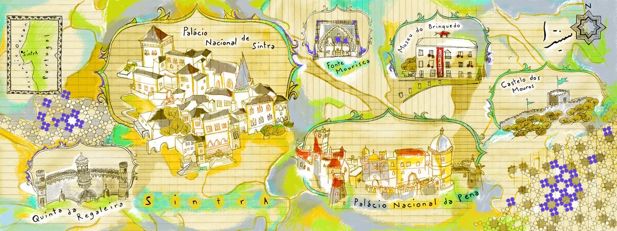Sintra Portugal By Nargol Arefi They Draw Travel - Portugal map jpg