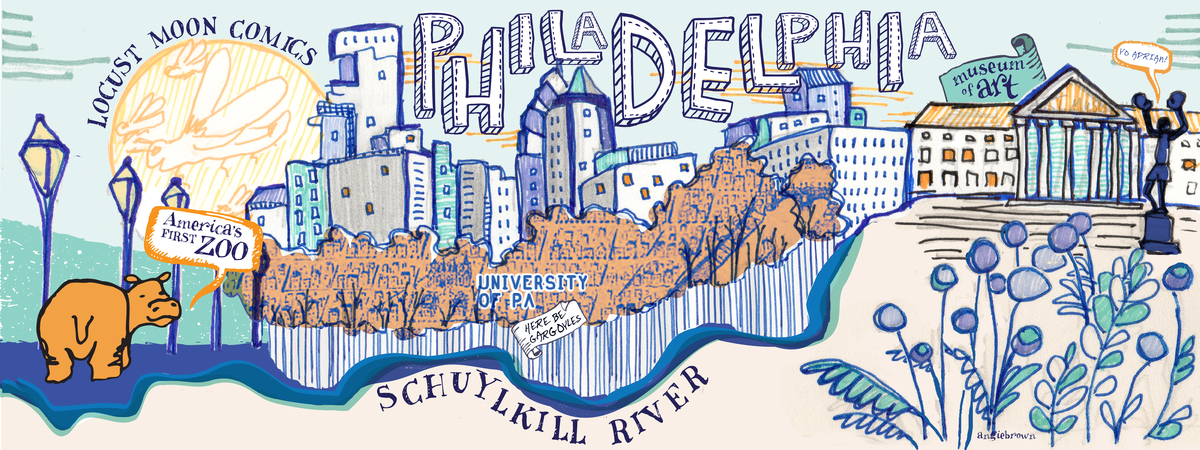 philadelphia map posters