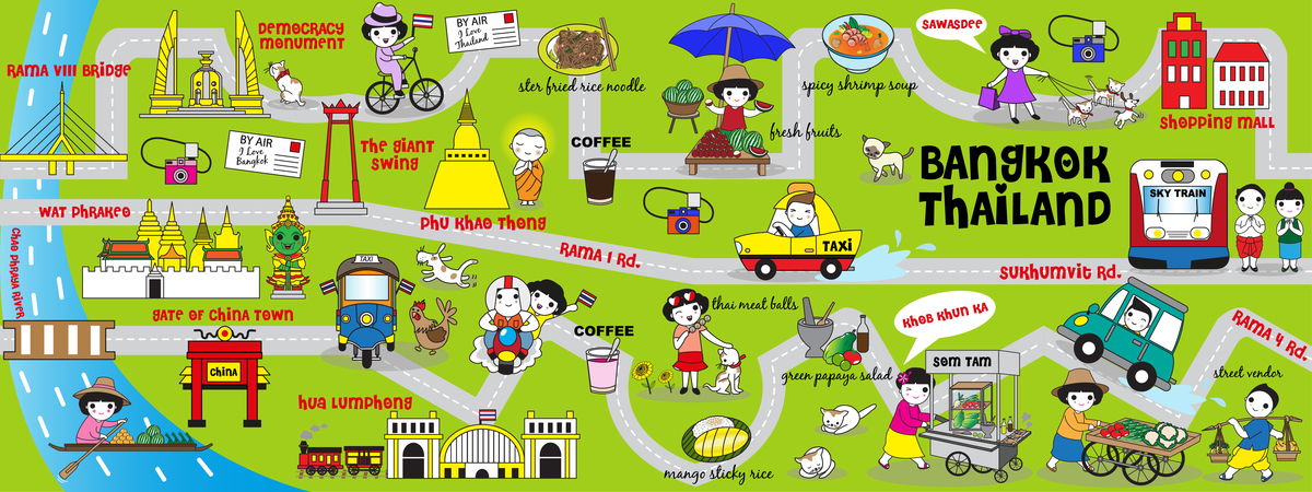 Cute bangkok thailand guide map illustration set iii they draw and travel 01.jpg