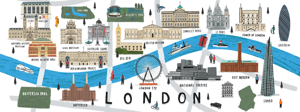 Map of London UK by Alex Foster They Draw Travel – Map of London Uk