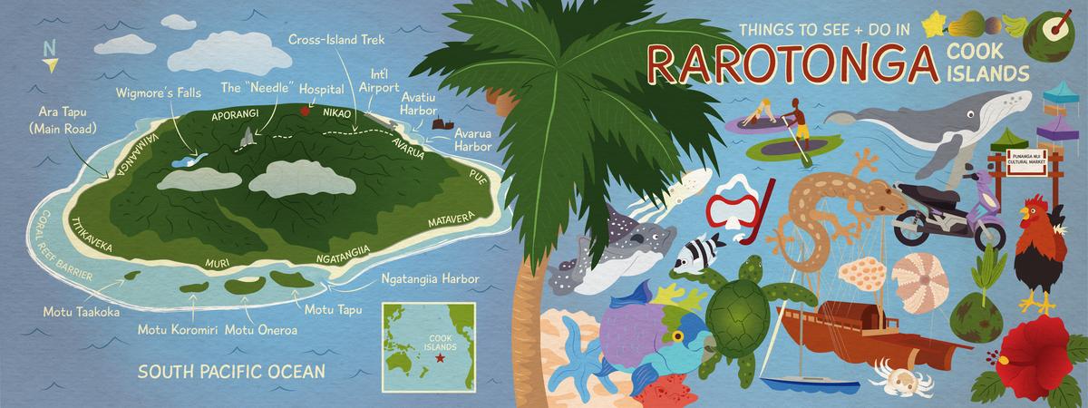 Rarotonga map