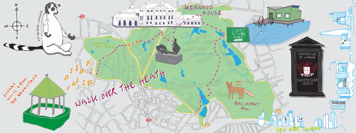 Jessie gray walk over the heath map 161117