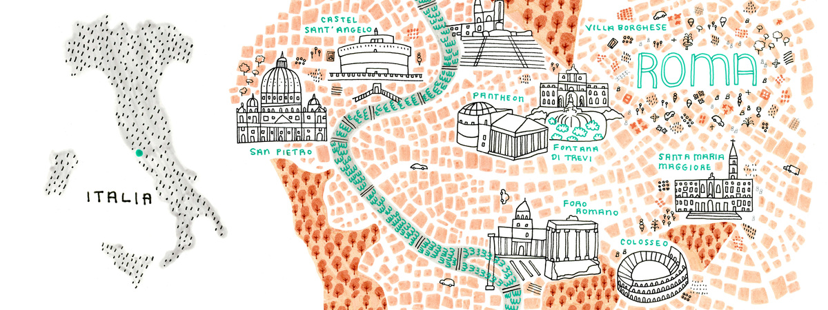 Roma map