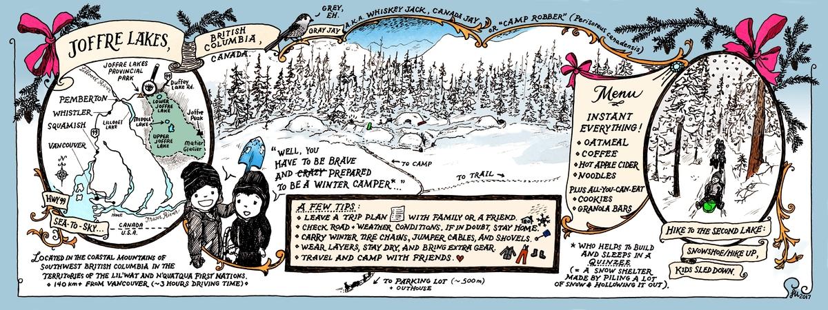 Lena umezawa joffre lakes winter camping map