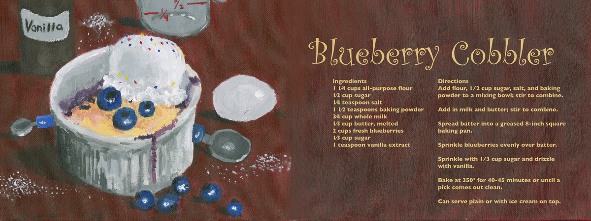 Joyce liang blueberry cobbler