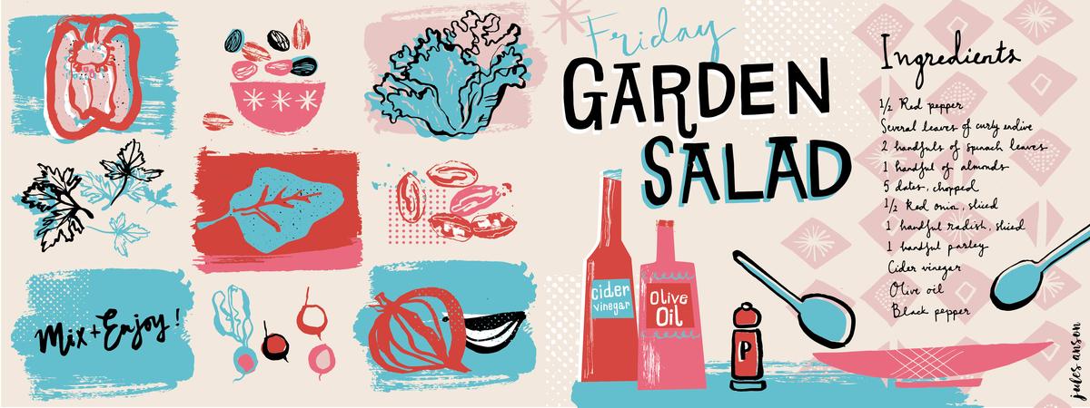 Julesanson friday garden salad tdac