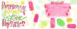Raspberry lemony lime popsicles