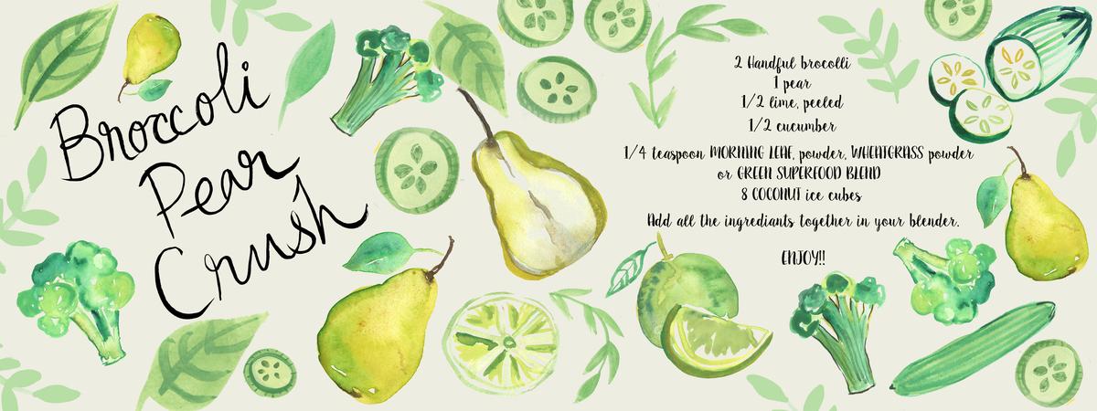 Brocoli pear crush