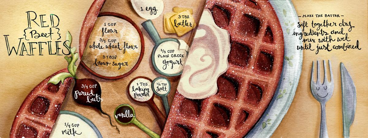 Beet waffles