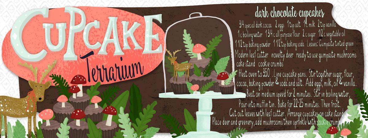 Cupcake terrarium