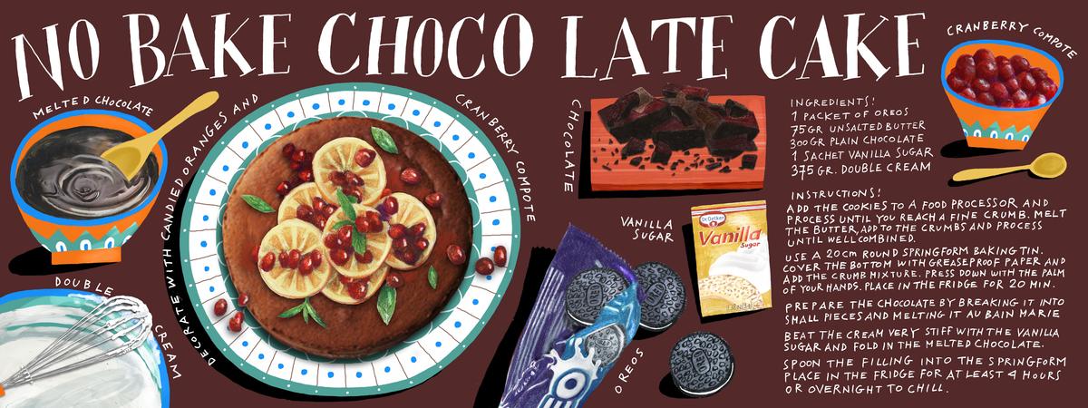 No bake choc cake tdac