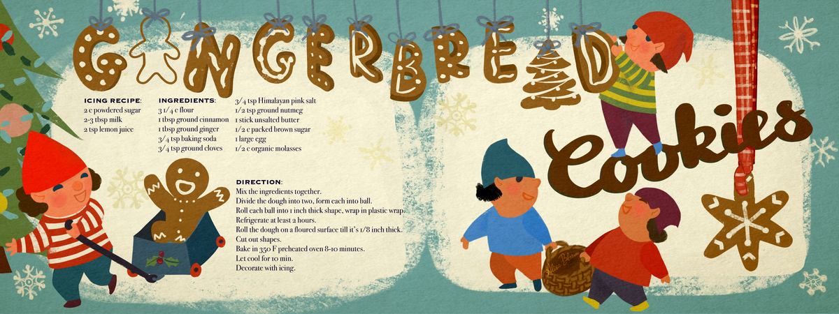 Gingerbread cookies illustrated recipe