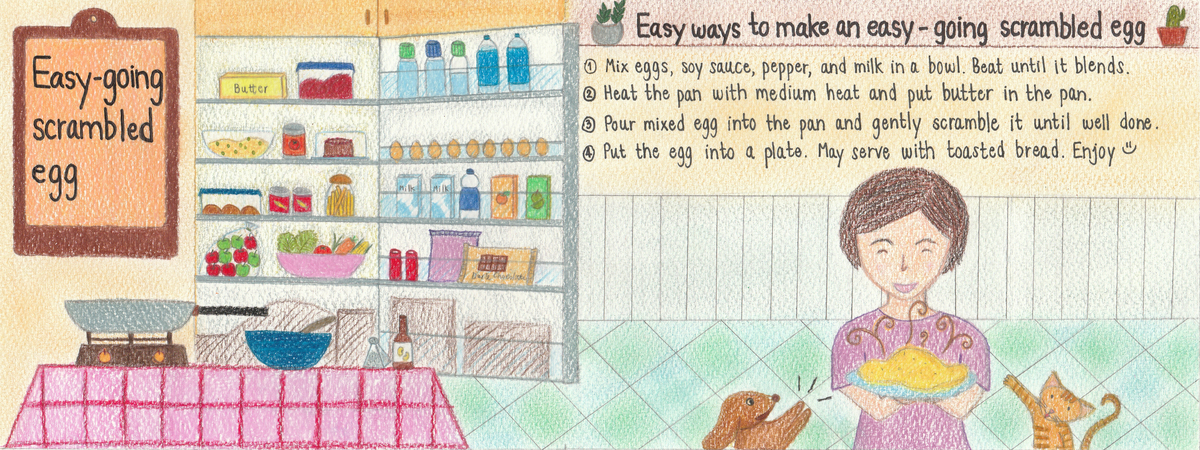 Easy going scrambled egg