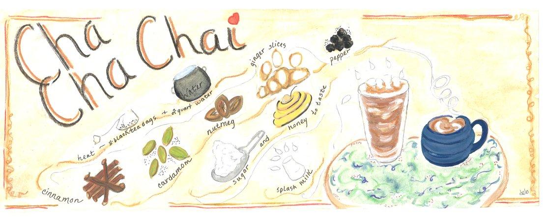 Debbartschillustration chai