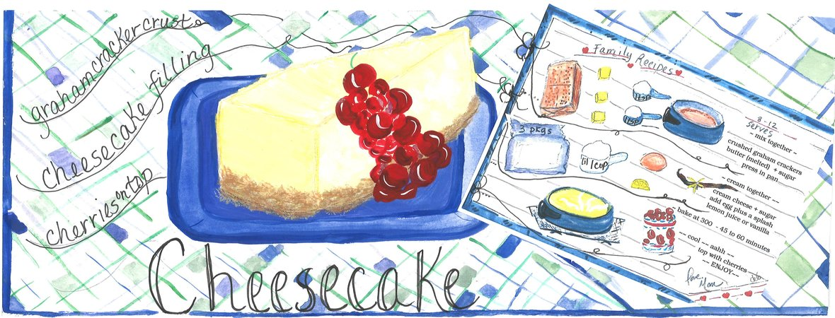 Debbartschillustration cheesecake